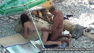 Couples Doggy Style In Nude Beach Spycam 3