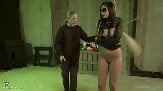 Spanking and a vibrator on her clit is all that Jade Thomas needs