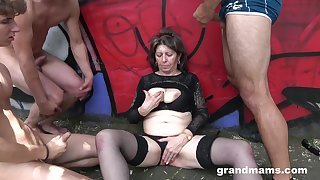 Horny milf needs more than one penis to feed her sexual wishes