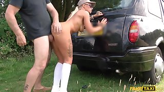 Kelly Myers toys cunt while John fucks her stretched anus