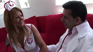 Very Hot Latina Nurse Takes Care Of The Doctor's Dick