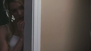 Stepdaughter is spying on step daddy fucking sexy paramour Christiana Cinn