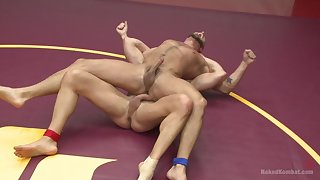 Anal domination in the ring between two gay men