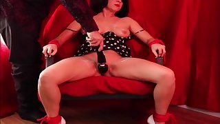 First time milf mom mature tied up obtain a real bondage orgasm hitachi