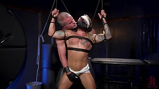 Muscular men in dirty BDSM anal gay porn