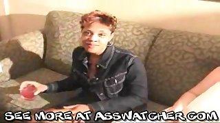 Ebony mature hooker Lisa received cumshot all over her face