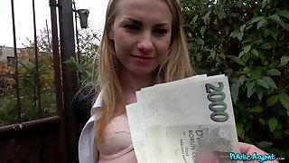 Fabulous POV for money with a Czech beauty