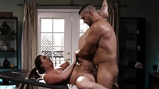 Allie Haze and Tori Black lick pussy after massage