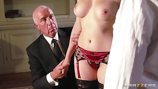 Passionate fucking ends with cum on boobs of Valentina Nappi