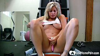 Lusty teacher teases with her favorite sex toy