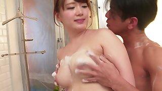 Asian Yui Nishikawa has a lover to cheat on her husband
